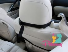 Petoonsy™ Bucket Seat Cover for Dogs (quilted with nonslip backing, fitted skirt, seat anchor. headrest straps and side flaps)