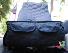 Petoonsy™ Bucket Seat Cover for Dogs (quilted with nonslip backing, fitted skirt, seat anchor. headrest straps, pockets and side flaps)